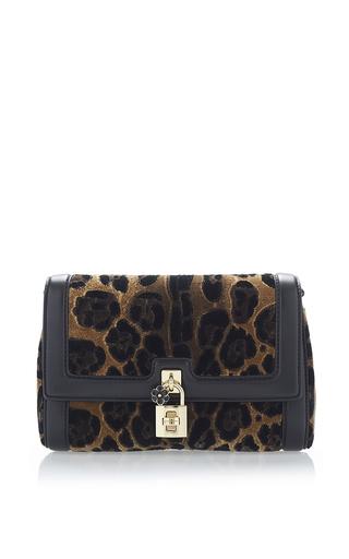 Animal Printed Velvet Shoulder Bag by DOLCE & GABBANA Now Available on Moda Operandi