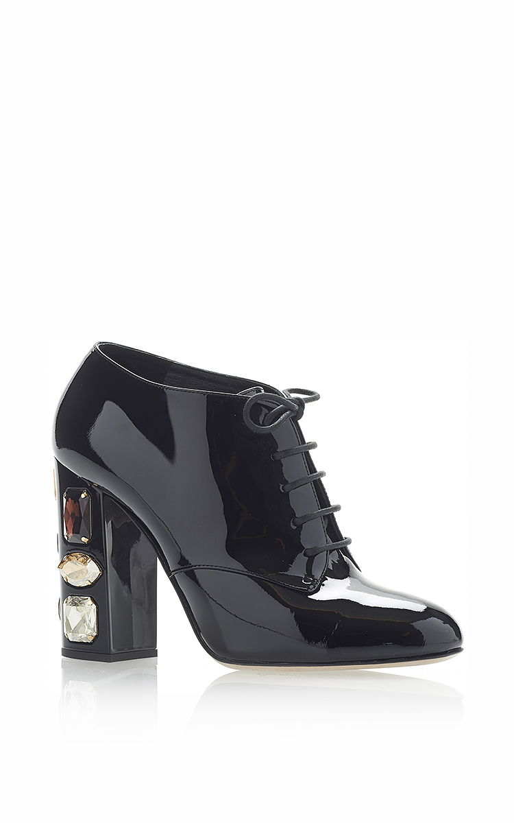 Dolce & Gabbana Patent Leather Booties cheap discounts low shipping fee cheap online store Manchester sale footaction reliable for sale pCywpk