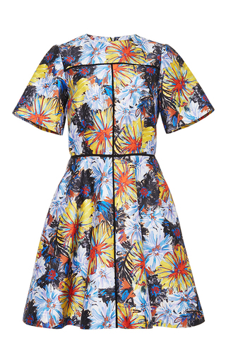 Silk Cotton Firework Printed Flare Dress by SUNO Now Available on Moda Operandi