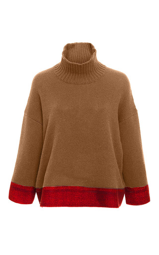 Cashmere Silk Blend Contrast Band Sweater  by MARNI Now Available on Moda Operandi