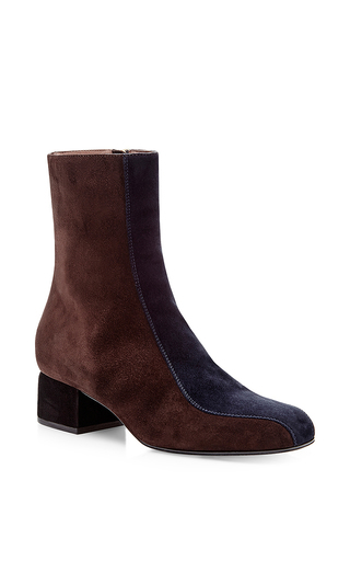 Leather Midcalf Heeled Boots by MARNI Now Available on Moda Operandi