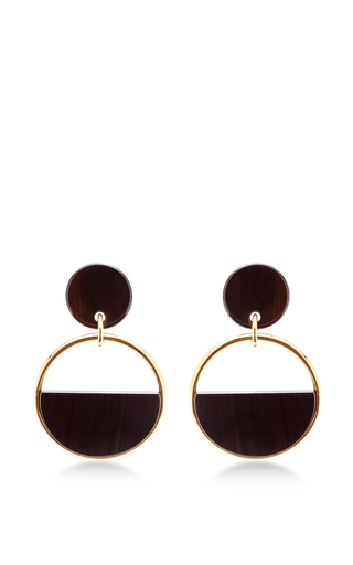 Buffalo Horn And Brass Earrings by MARNI Now Available on Moda Operandi