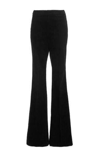 Medium giambattista valli black black boot leg corduroy pants