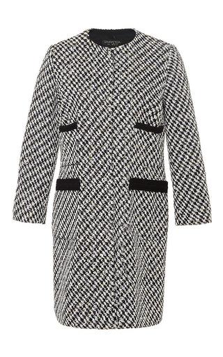 Black Sparkling Mid Length Coat by GIAMBATTISTA VALLI Now Available on Moda Operandi