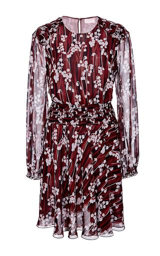 Medium giamba burgundy burgundy silk printed mini dress