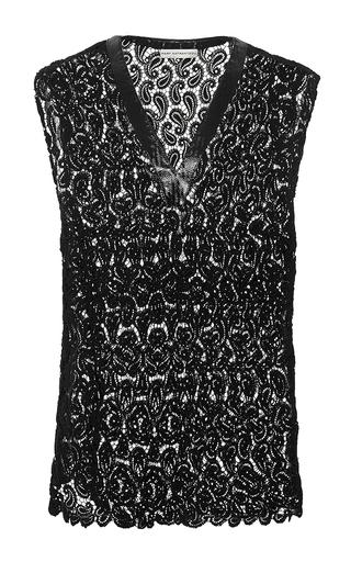 Sleeveless Filo Paisley Lace Top by MARY KATRANTZOU Now Available on Moda Operandi
