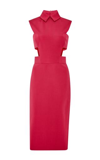 Medium cushnie et ochs red red power stretch viscose dress with cutouts