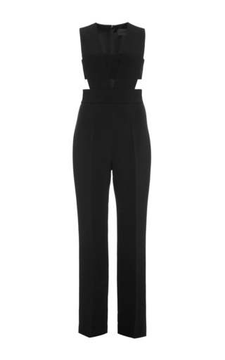 Black High Waisted Jumpsuit With Cutouts by CUSHNIE ET OCHS Now Available on Moda Operandi