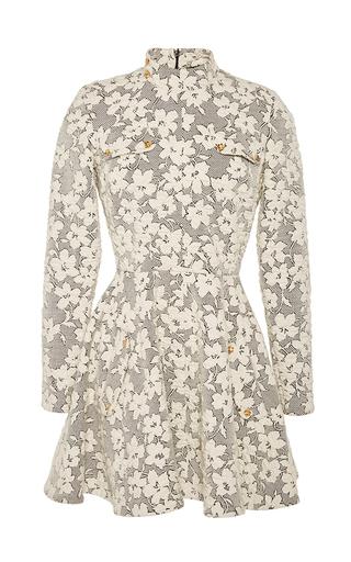 Medium j w anderson white floral jersey cloque skater dress  2