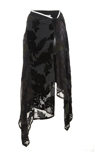 Medium preen black black devore adeline skirt