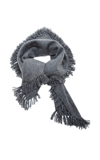 Medium isabel marant dark grey grey zila cashmere serged scarf