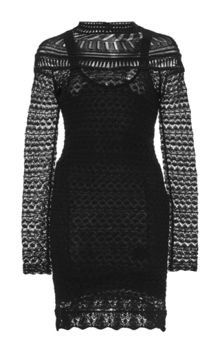 Davy Long Sleeved Crochet Knit Dress by ISABEL MARANT Now Available on Moda Operandi