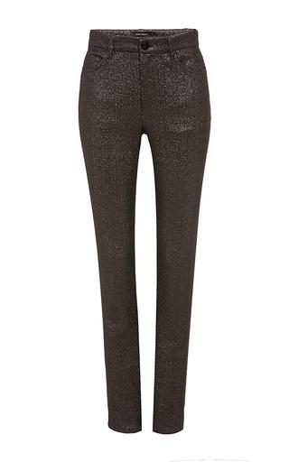 Purple Lauryn Lurex Skinny Pants by ISABEL MARANT Now Available on Moda Operandi
