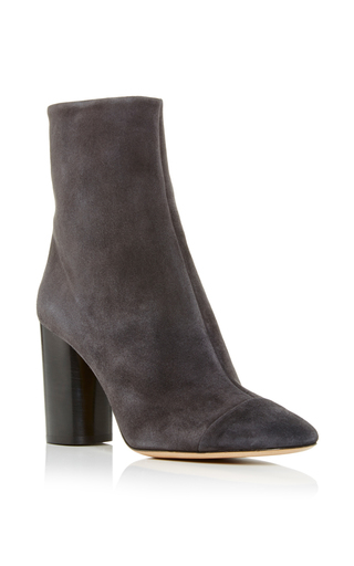Medium isabel marant black black suede grover ankle boots
