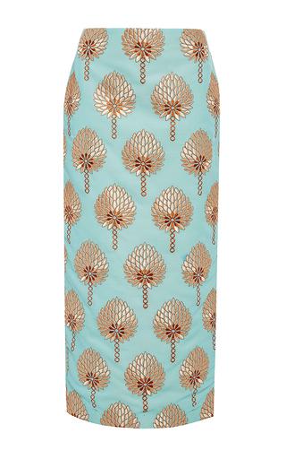 Medium stella jean light blue blue cotton printed modesto tube skirt