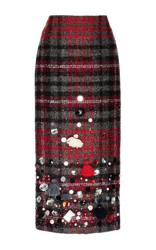 Medium stella jean plaid embellished plaid pencil skirt
