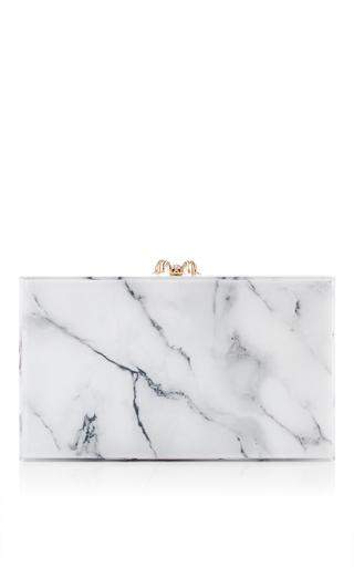 Medium charlotte olympia white white marble perspex pandora clutch