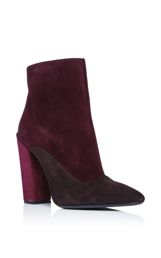 Tricolor Suede Bootie by GIAMBATTISTA VALLI Now Available on Moda Operandi