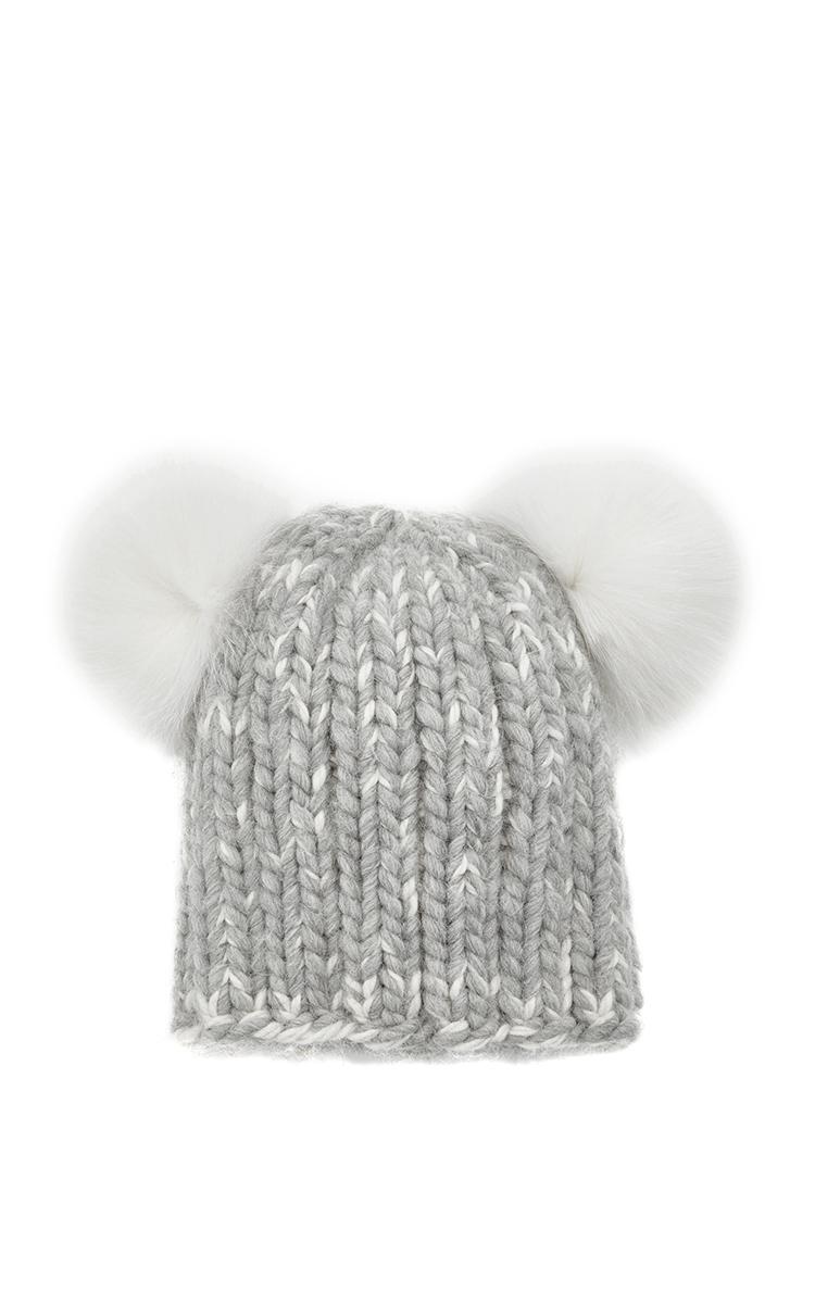 085108ab510 Mimi Wool Alpaca Winter Hat with Double Fur Pom Poms by Eugenia Kim ...