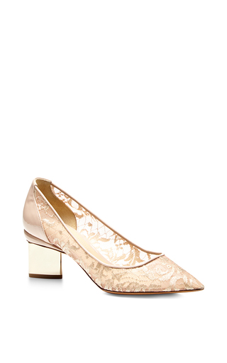 Nude Prism Lace Pumps by NICHOLAS KIRKWOOD Now Available on Moda Operandi