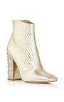 Gold Metallic Watersnake Leather Carnaby Ankle Boots by NICHOLAS KIRKWOOD Now Available on Moda Operandi