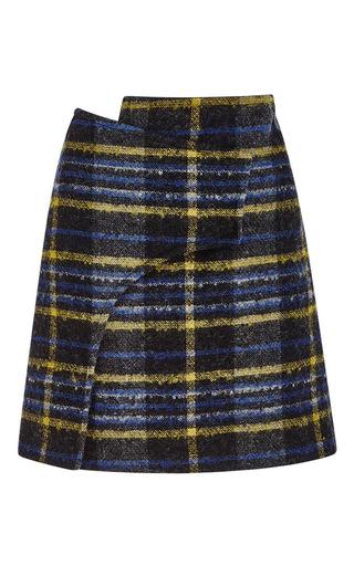 Wool, Angora And Mohair Plaid Wrap Skirt by DEREK LAM 10 CROSBY Now Available on Moda Operandi