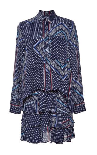 Medium derek lam 10 crosby multi silk georgette two in one dress