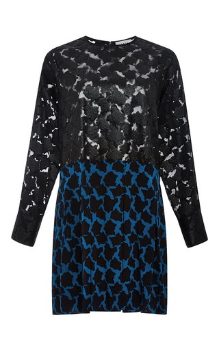Silk Addison Long Sleeved Dress by TANYA TAYLOR Now Available on Moda Operandi