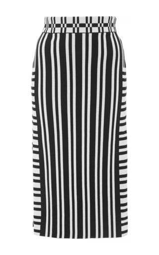 Camilla Mixed Stripe Pencil Skirt by TANYA TAYLOR Now Available on Moda Operandi