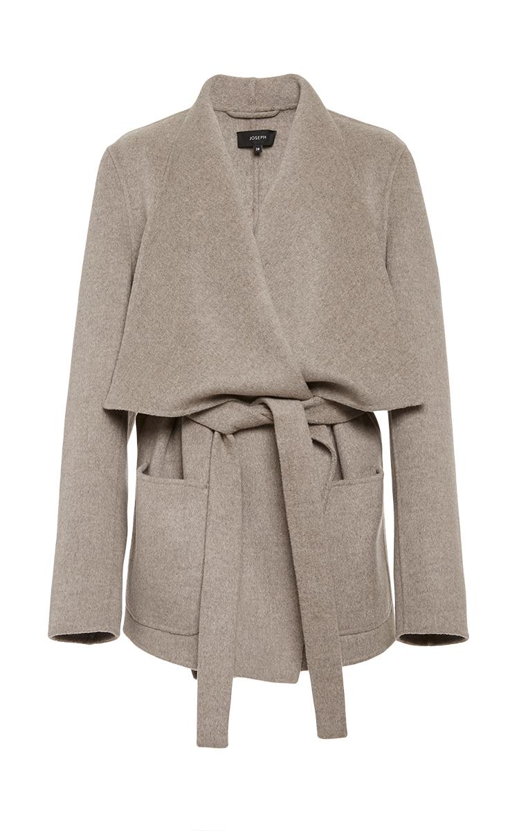 Brown Live Short Wrap Coat by Joseph | Moda Operandi