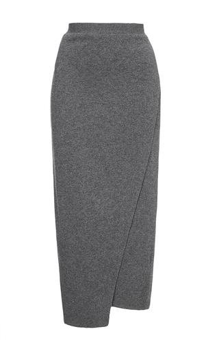 Medium joseph light grey grey wrap skirt