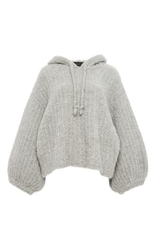 Medium tabula rasa light grey grey wool alpaca oversized sleeved hoodie
