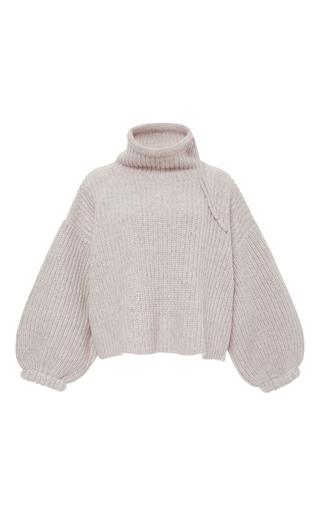 Medium tabula rasa pink pandora funnel neck wool sweater