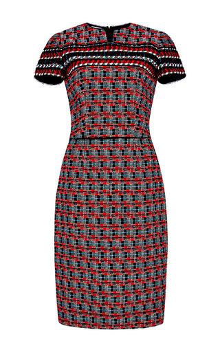 Wool Cotton Tweed Pencil Dress by OSCAR DE LA RENTA Now Available on Moda Operandi