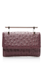 Mini Fabricca Ostrich Leather Bag In Red by M2MALLETIER Now Available on Moda Operandi