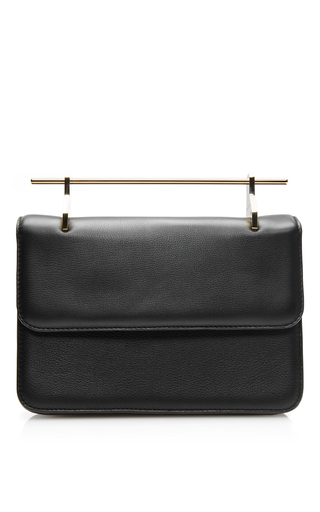 Medium m2malletier black fabricca calf leather bag in black