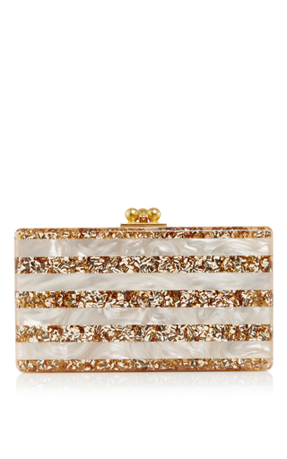 Medium edie parker stripe pearlescent jean striped clutch with confetti stripes