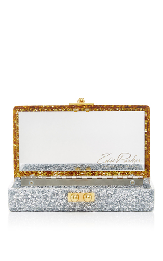 Jean Halfhalf Confetti Box Clutch In Silver And Gold by EDIE PARKER Now Available on Moda Operandi
