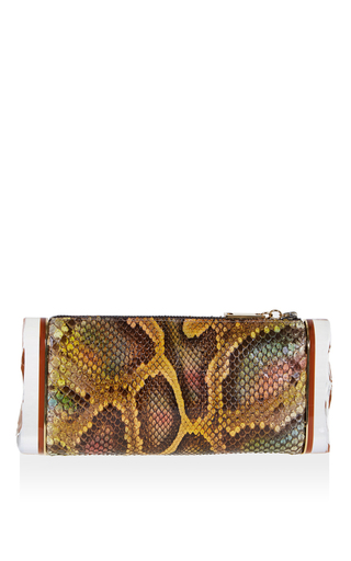 Python Leather Soft Lara Clutch by EDIE PARKER Now Available on Moda Operandi