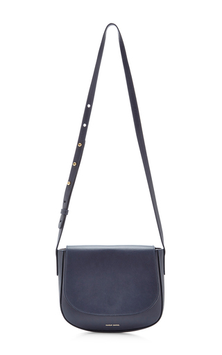 Medium mansur gavriel blue blue calf leather crossbody