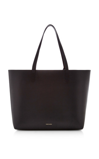 Medium mansur gavriel black vegetable tanned large tote in black with flamma  2