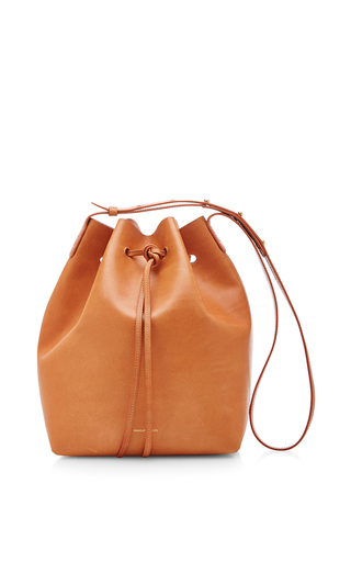 Vegetable Tanned Bucket Bag In Cammello With Rosa by MANSUR GAVRIEL Now Available on Moda Operandi