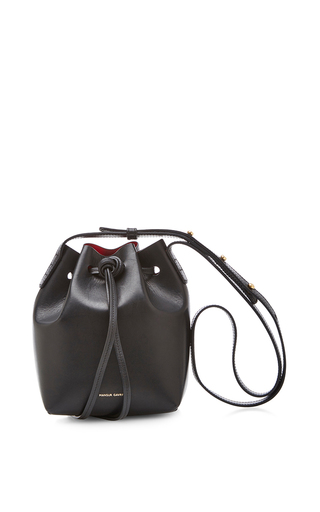 Vegetable Tanned Mini Mini In Black With Flamma by MANSUR GAVRIEL Now Available on Moda Operandi