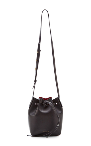 Medium mansur gavriel black vegetable tanned mini mini in black with flamma  2