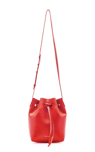Medium mansur gavriel red calf mini mini in flamma with flamma