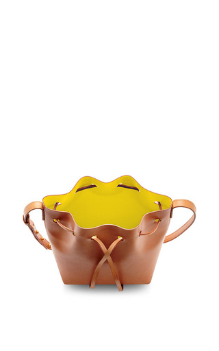 Vegetable Tanned Mini Mini In Camello With Sun by MANSUR GAVRIEL Now Available on Moda Operandi