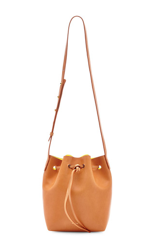 Medium mansur gavriel tan vegetable tanned mini mini in camello with sun