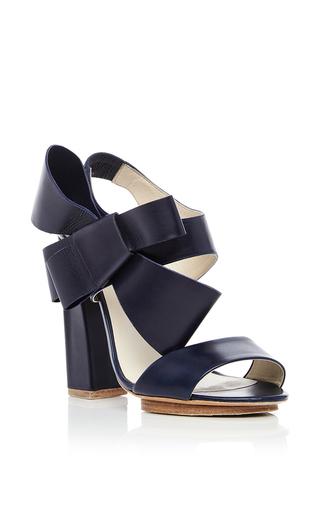 Medium delpozo navy dark navy lambskin bow heels