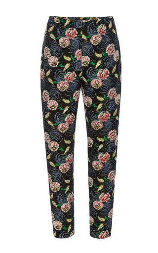 Whimsical Floral Cigarette Pants by SUNO Now Available on Moda Operandi