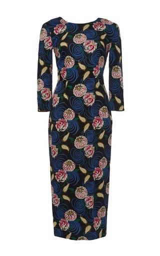 Medium suno floral whimsical floral backless silk dress